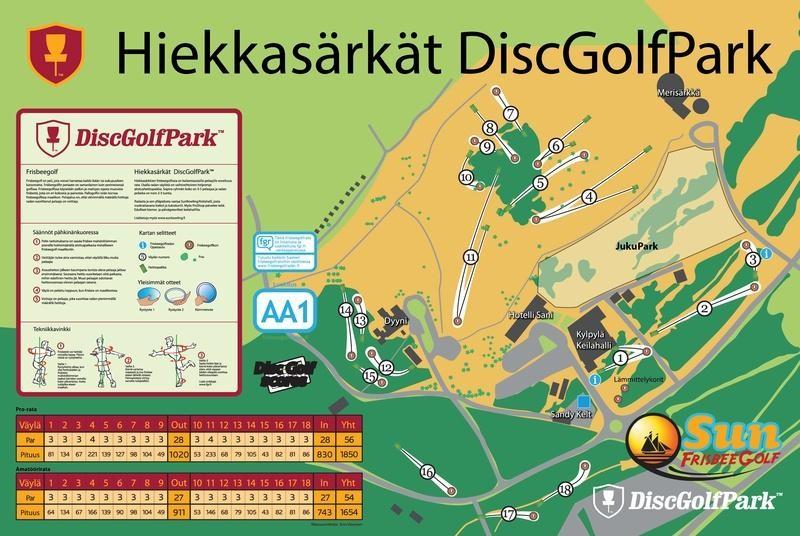 Hiekkasarkat Frisbeegolf Kalajoki Camping